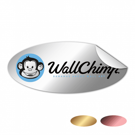 Oval Stickers - Chrome