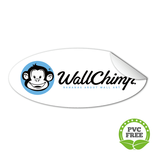 Oval Stickers - PVC Free Paper