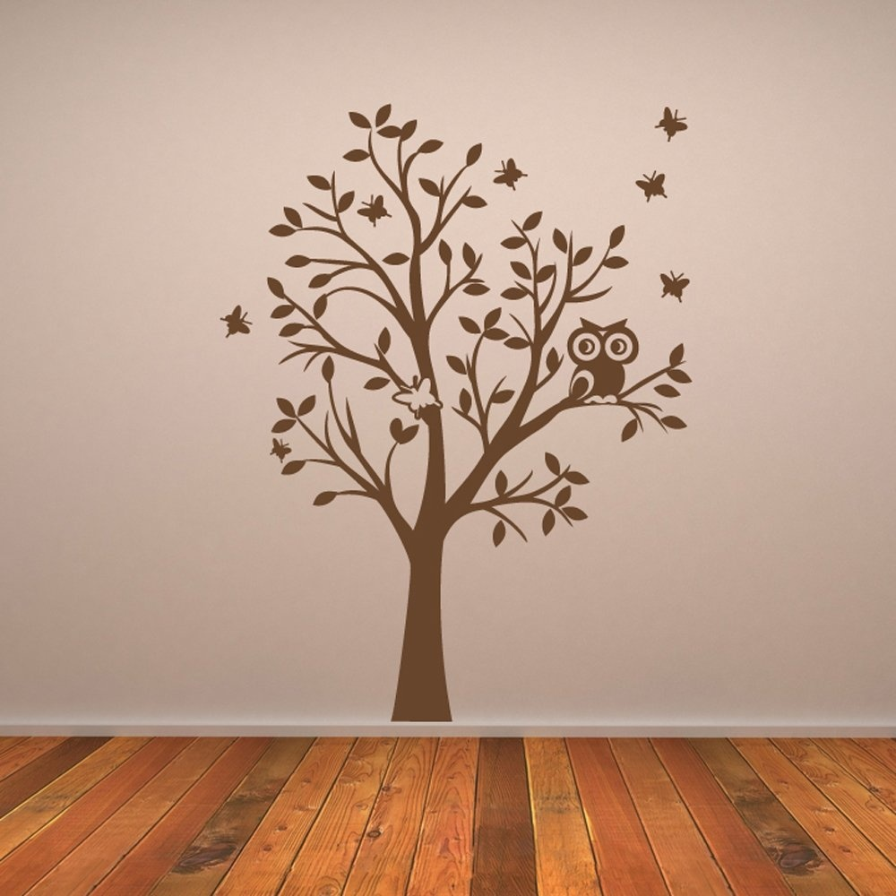 Owl tree wall sticker wall chimp uk owl tree wall sticker amipublicfo Image collections