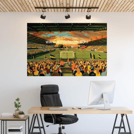 Oxford United, Kassam Stadium Football Ground Wall Sticker