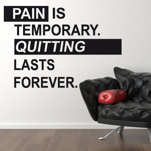 Pain Wall Sticker Quote
