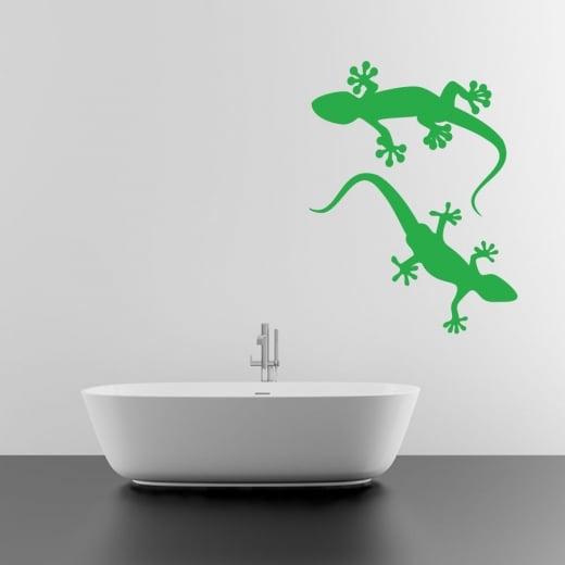 Pair Of Happy Lizard's Wall Sticker