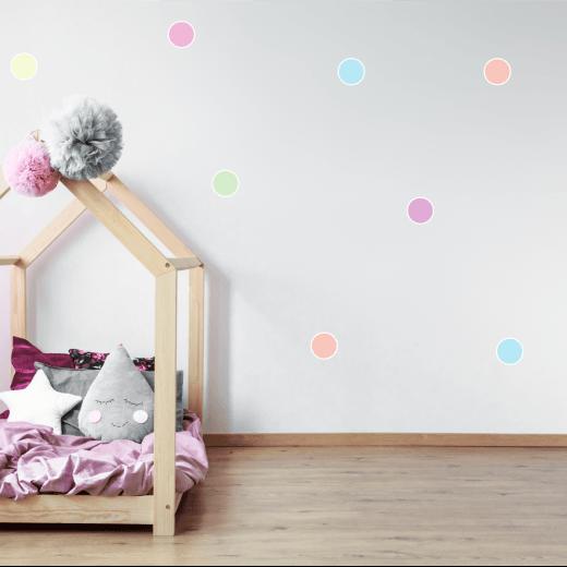 Pastel Rainbow Polka Dot Sticker Pack
