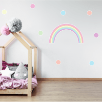 Pastel Rainbow & Polka Dot Sticker Pack