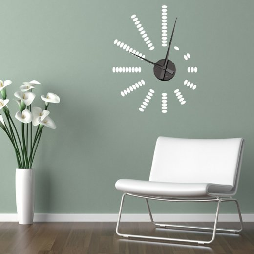 Pebbles Wall Sticker Clock