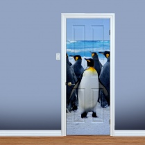 Penguin On Ice Printed Door
