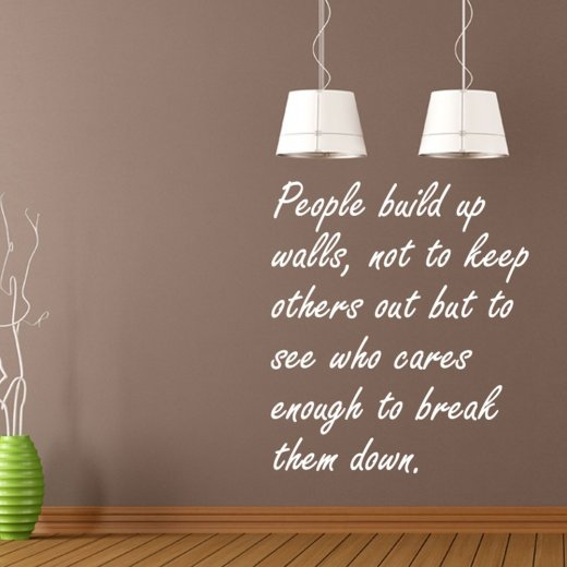 People Build Up Wall's Sticker Quote