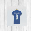 Personalised Blue Football Shirt Coaster