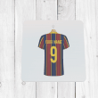 Personalised Blue & Garnet Football Shirt Coaster