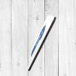 Personalised Blue & White Football Shirt Coaster