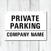 Personalised Company Name 'Private Parking' Metal Sign