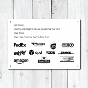 Personalised Courier Message Metal Sign