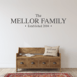 Personalised Family Established Name Wall Sticker
