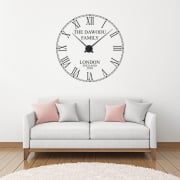 Personalised Family Name Wall Clock