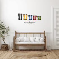 Personalised Family 'Wellies' Wall Sticker