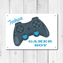 Personalised 'Gamer Boy' Metal Sign