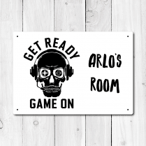 Personalised Gamer Metal Door Sign