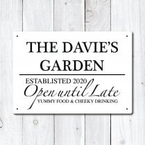 Personalised 'Garden' Metal Sign