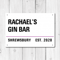 Personalised 'Gin Bar' Metal Sign