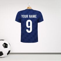 Personalised Grey Football Shirt Wall Sticker With Your Name & Number