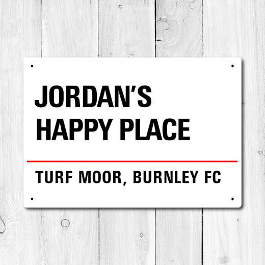 Personalised 'Happy Place' Metal Sign