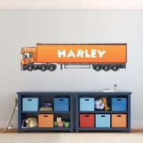 Personalised HGV Truck Printed Wall Sticker
