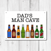 Personalised 'Man Cave' Metal Sign