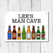 Personalised 'Man Cave' Metal Sign