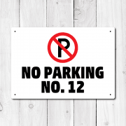 Personalised No Parking Metal Sign