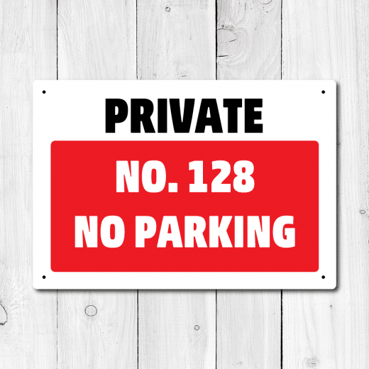 Personalised Private No Parking Metal Sign