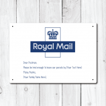 Personalised Royal Mail Message Metal Sign
