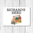 Personalised 'Shed' Metal Sign