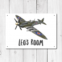 Personalised Spitfire Metal Door Sign