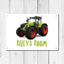 Personalised Tractor Metal Door Sign