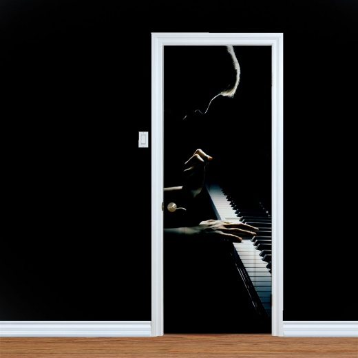 Pianist Musical UV Printed Door