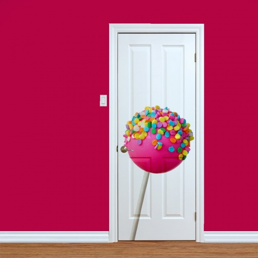 Pink Lolly Pop Printed Door