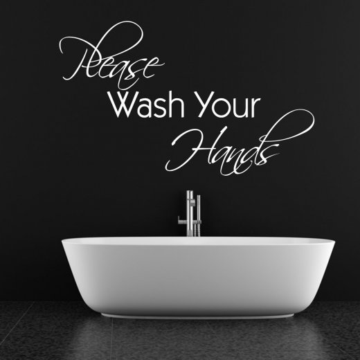 Please Wash Your Hands Wall Sticker Quote