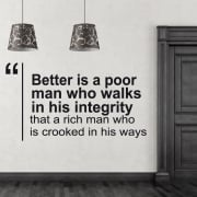 Poor Man Wall Sticker Quote
