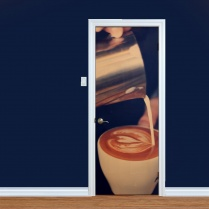 Pouring Fresh Coffee Printed Door