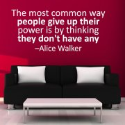 Power Wall Sticker Quote
