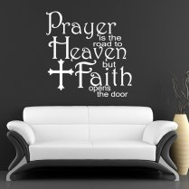 Prayer & Faith Wall Sticker Quote