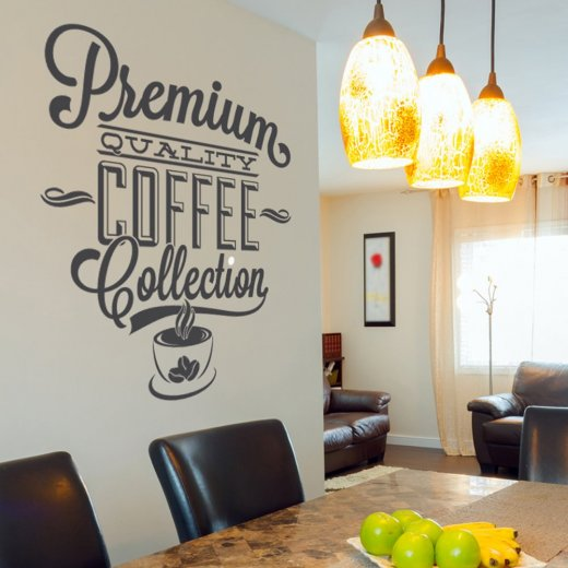 Premium Coffee Wall Sticker Quote