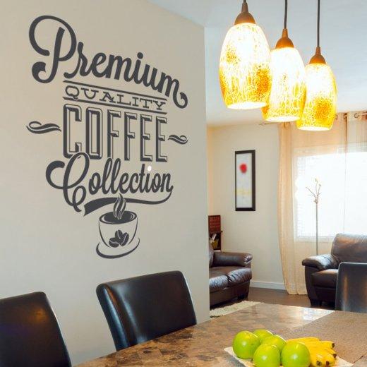 Premium Coffee Wall Sticker Quote