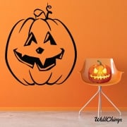 Pumpkin Two Wall & Window Sticker