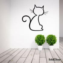 Pussycat Two Wall Sticker