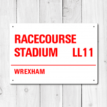 Racecourse Stadium, Wrexham Metal Sign