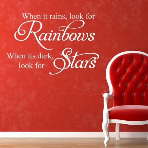 Rainbows Wall Sticker Quote
