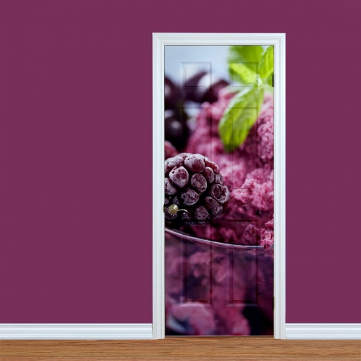 Raspberry Sorbet Printed Door