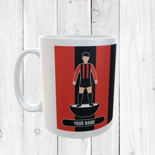 Red & Black Football Mug