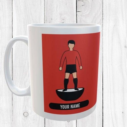 Red & Black Football Mug